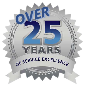 25 Years of Service Excellence buying and selling used exhibits