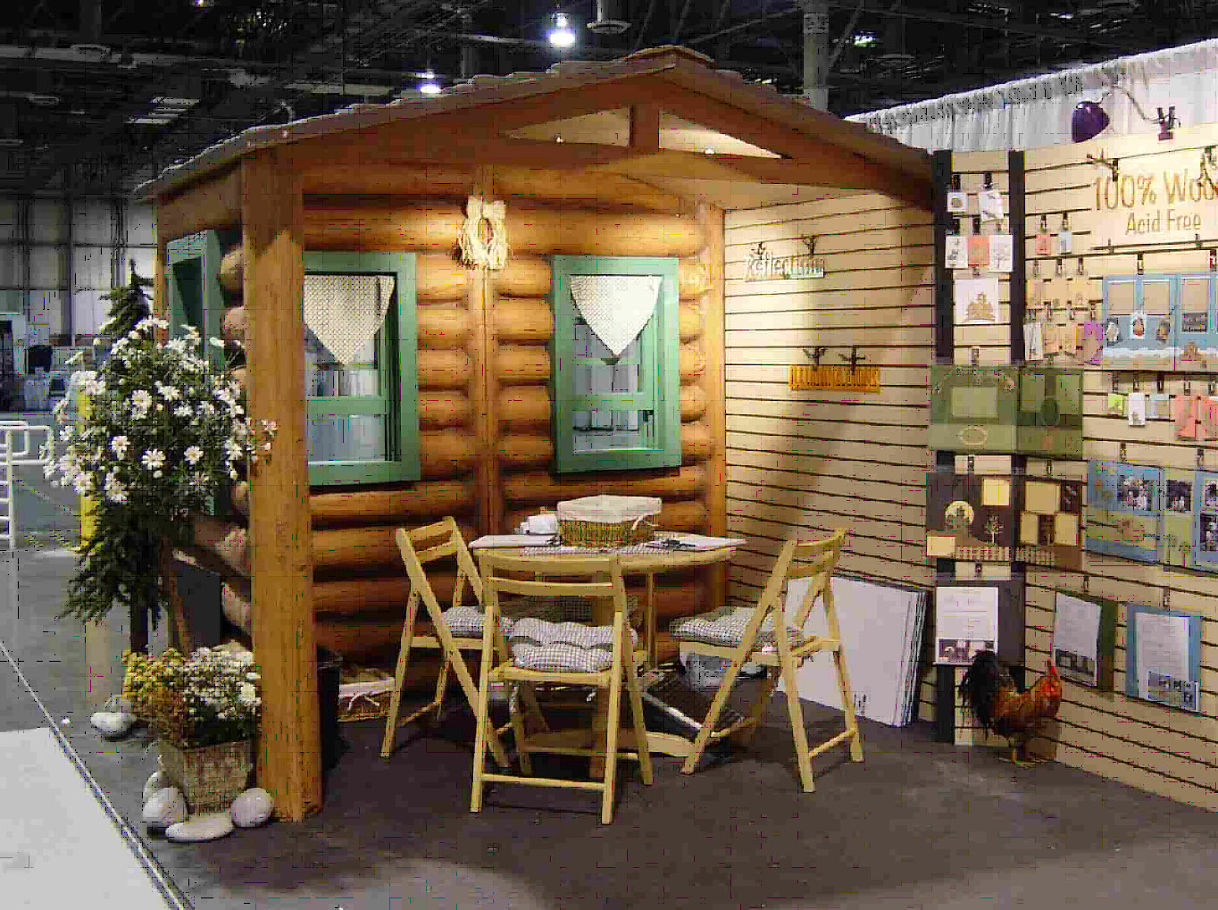 Unique Log Cabin 10' x 20' Booth | Usedbooths