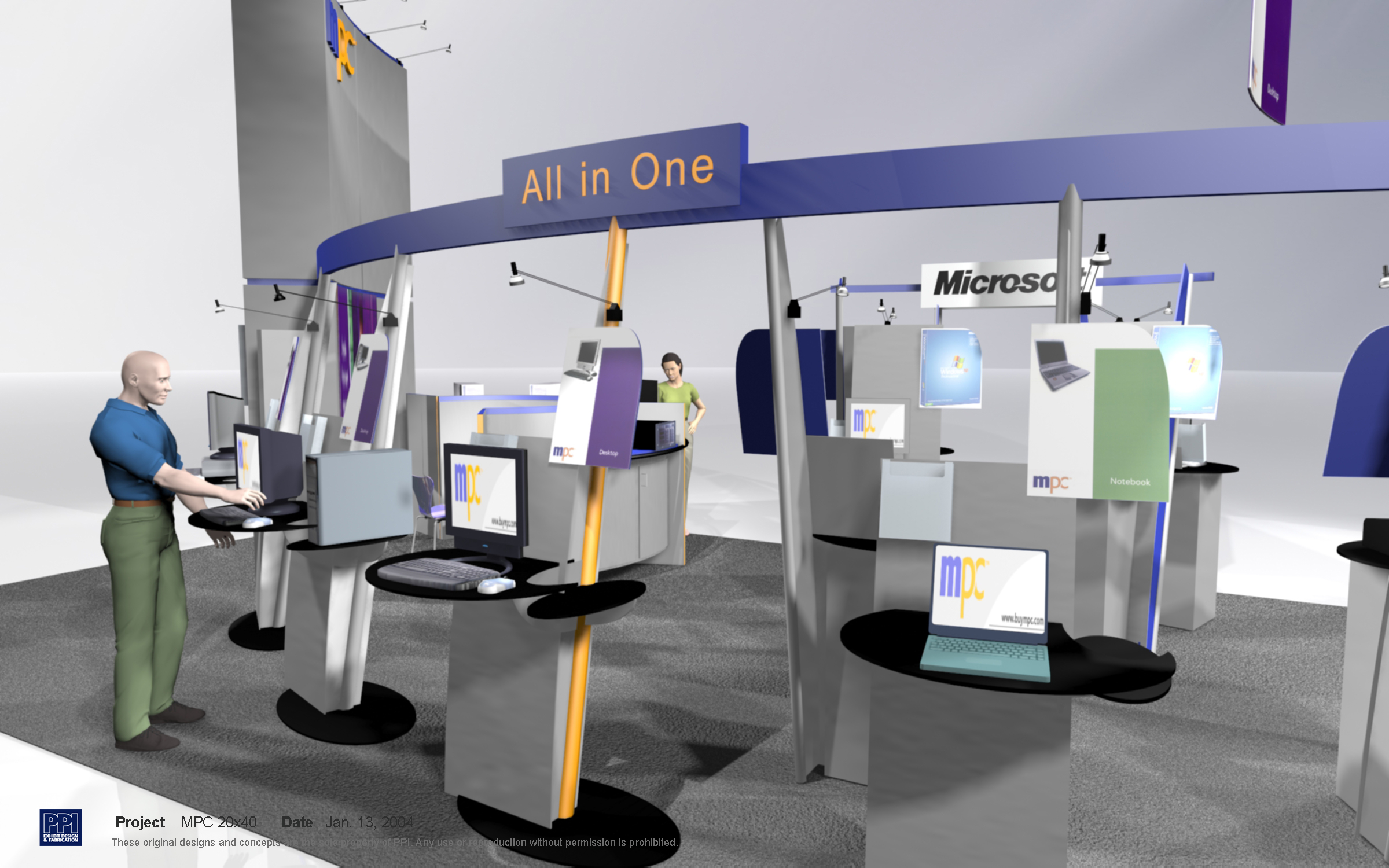 High end 20x40 Like New tradeshow booth | Usedbooths